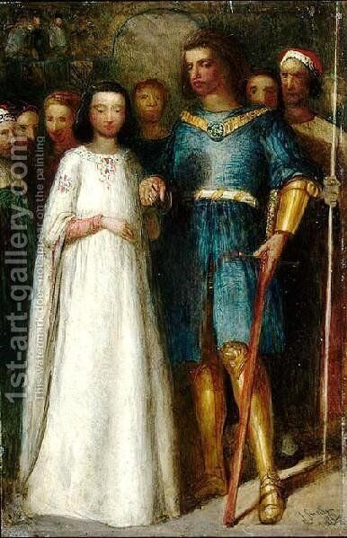 The Knight's Bride by James Smetham - Reproduction Oil Painting