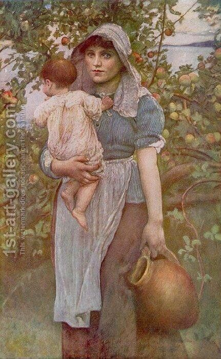 The Young Mother by Annie Louise Swynnerton - Reproduction Oil Painting