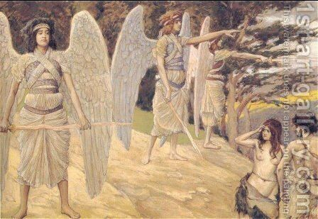 Adam and Eve Driven from Paradise by James Jacques Joseph Tissot - Reproduction Oil Painting