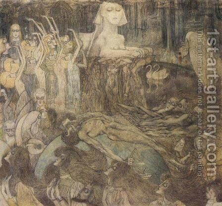 The Sphinx by Jan Toorop - Reproduction Oil Painting
