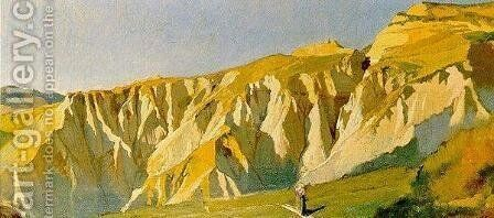 Cliffs of Volterra by Elihu Vedder - Reproduction Oil Painting