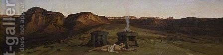 Death of Abel by Elihu Vedder - Reproduction Oil Painting