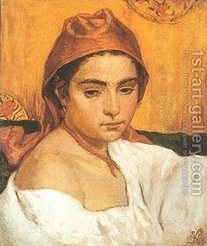 Etruscan Girl by Elihu Vedder - Reproduction Oil Painting