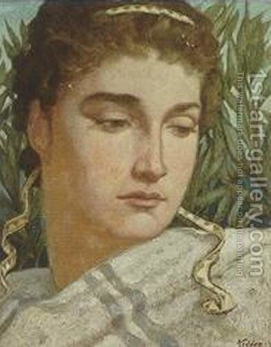 Narcissus by Elihu Vedder - Reproduction Oil Painting