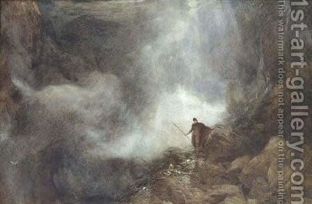 Arthur in the Gruesome Glen by Henry Clarence Whaite - Reproduction Oil Painting