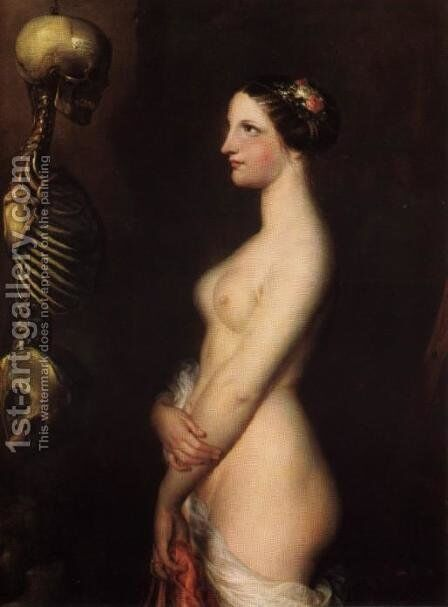 The Beautiful Rosine by Antoine Wiertz - Reproduction Oil Painting