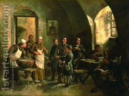 Charity Soup by Sigismund Ajdukiewicz - Reproduction Oil Painting