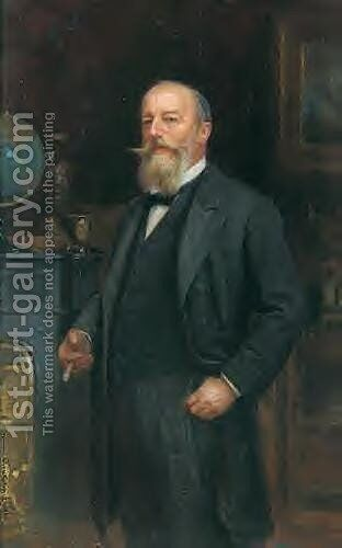 Portrait of Adolf Weisenberg by Sigismund Ajdukiewicz - Reproduction Oil Painting