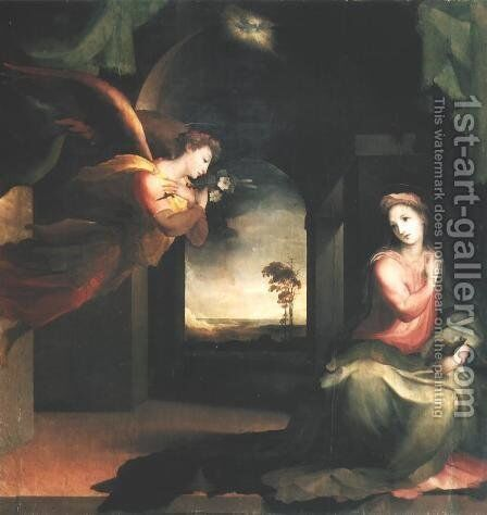 Annunciation by Domenico Beccafumi - Reproduction Oil Painting