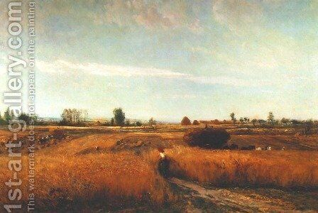 Harvest by Charles-Francois Daubigny - Reproduction Oil Painting