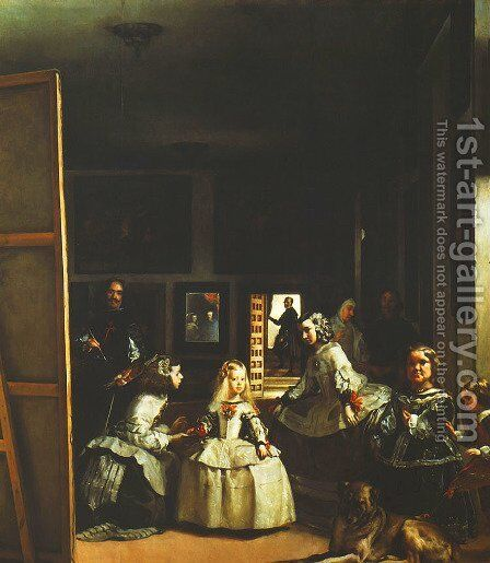 Family of Philip IV (Las Meninas) by Velazquez - Reproduction Oil Painting