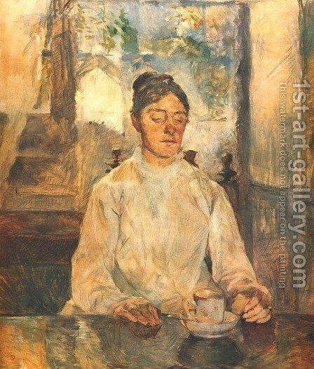 Portrait of Madame la Comtesse de Toulouse-Lautrec by Toulouse-Lautrec - Reproduction Oil Painting