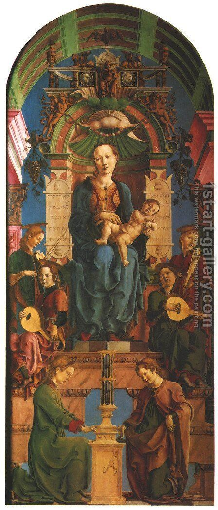 Virgin Enthroned (Madonna in trono) by Cosme Tura - Reproduction Oil Painting
