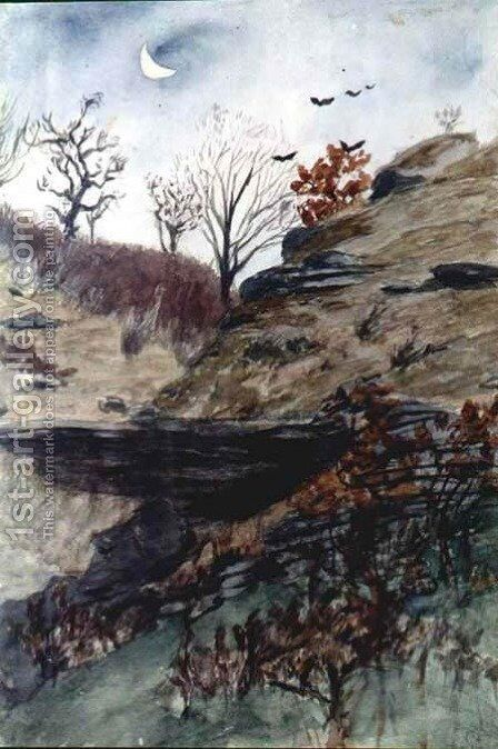 Slope of Ravine by Adam Chmielowski - Reproduction Oil Painting