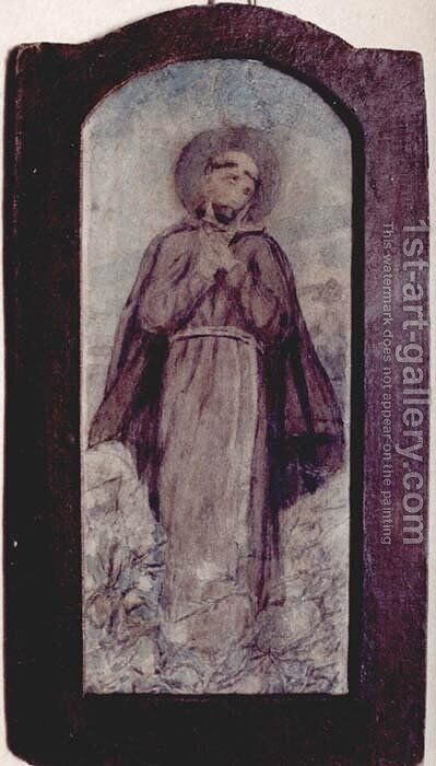 St Francis Of Assisi Painting By Adam Chmielowski Reproduction