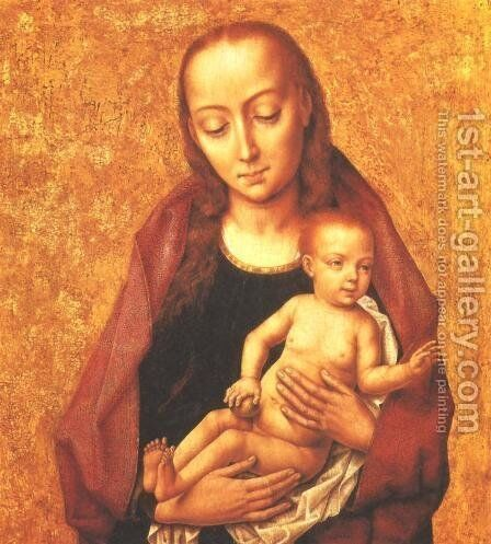 Virgin and Child 2 by Dieric the Elder Bouts - Reproduction Oil Painting