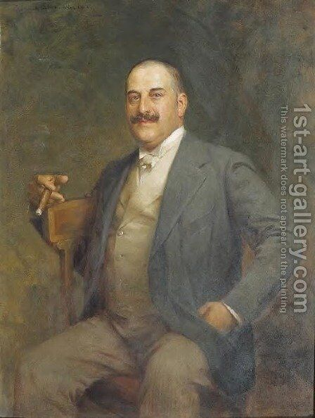 Portrait of a Man by Sigismund Ajdukiewicz - Reproduction Oil Painting