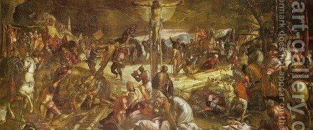 Crucifixion (Crocifissione) by Jacopo Tintoretto (Robusti) - Reproduction Oil Painting