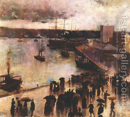 Departure of the 'Orient', Circular Quay by Charles Conder - Reproduction Oil Painting