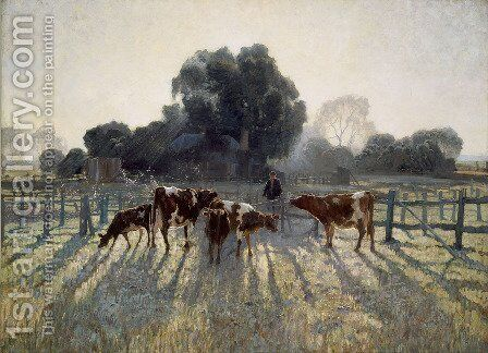 Spring Frost: Emu Plains by Elioth Gruner - Reproduction Oil Painting