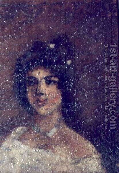 Portrait of Halina Chojecka by Adam Chmielowski - Reproduction Oil Painting