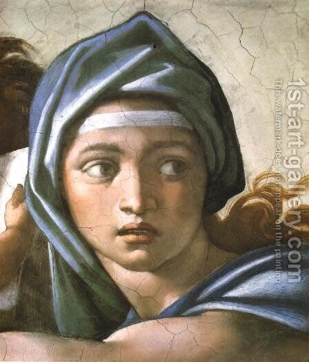 Delphic Sibyl by Michelangelo - Reproduction Oil Painting