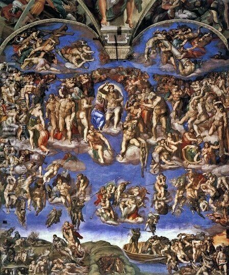 Last Judgment by Michelangelo - Reproduction Oil Painting