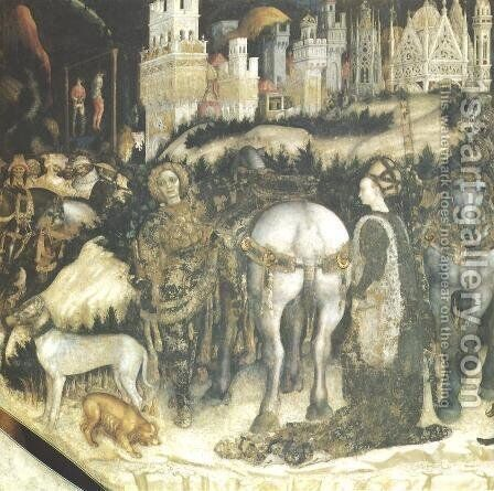 St. George and the Princess of Trebizond by Antonio Pisano (Pisanello) - Reproduction Oil Painting