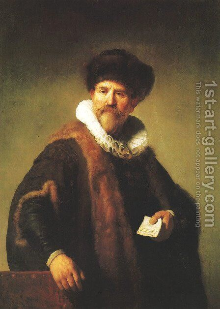 Portrait of Nicolaes Ruts by Harmenszoon van Rijn Rembrandt - Reproduction Oil Painting