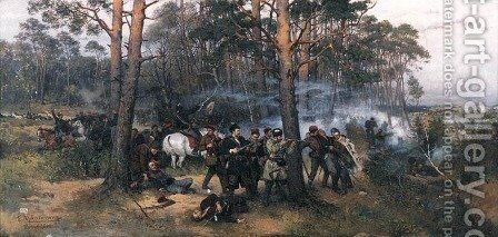 Scene from the 1863 Insurrection by Thaddeus von Ajdukiewicz - Reproduction Oil Painting
