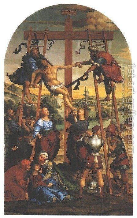 Descent from the Cross by Il Sodoma (Giovanni Antonio Bazzi) - Reproduction Oil Painting