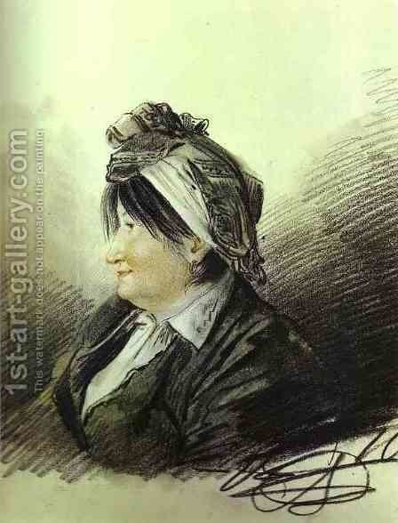 Portrait of A. M. Lanskaya by Aleksander Orlowski - Reproduction Oil Painting