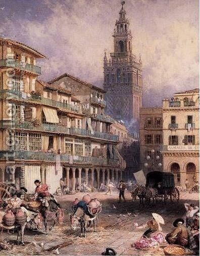 Seville by Myles Birket Foster - Reproduction Oil Painting