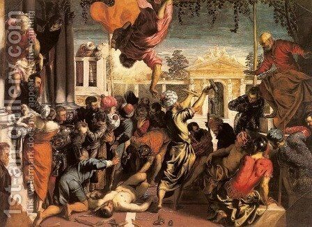 Miracle of the Slave (Miracolo dello schiavo) by Jacopo Tintoretto (Robusti) - Reproduction Oil Painting