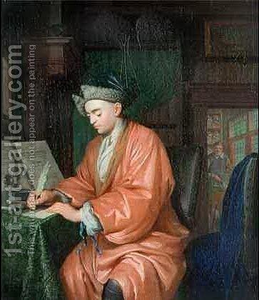 Doctor Working in his Study with an Assistant Preparing Medicine by Christoffel Lubieniecki - Reproduction Oil Painting