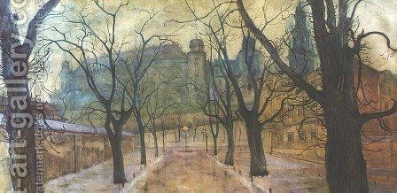 Planty Park at Dawn by Stanislaw Wyspianski - Reproduction Oil Painting