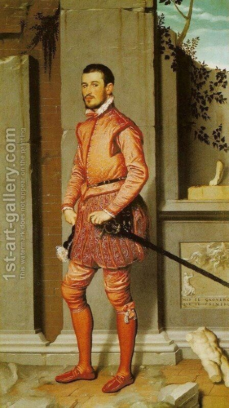 Gentleman in Pink, Gian Gerolamo Grumelli (Il cavaliere in rosa) by Giovanni Battista Moroni - Reproduction Oil Painting