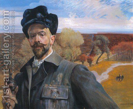 Self-Portrait with an Easter Egg by Jacek Malczewski - Reproduction Oil Painting