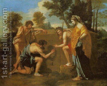 Et in Arcadia Ego by Nicolas Poussin - Reproduction Oil Painting