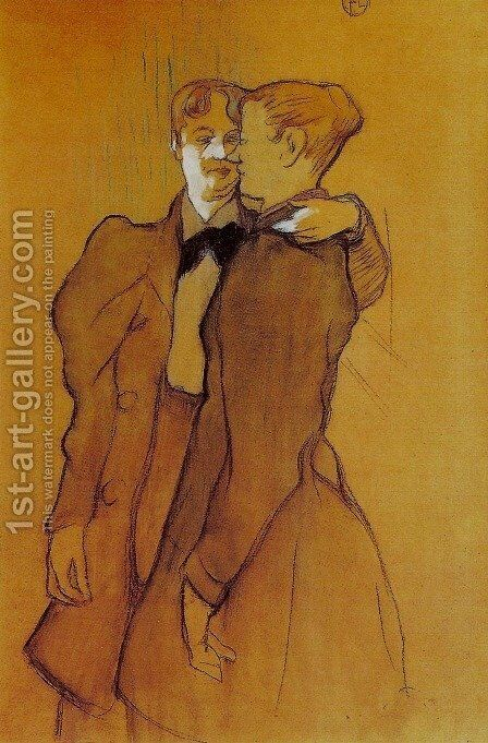 Two Women Waltzing by Toulouse-Lautrec - Reproduction Oil Painting