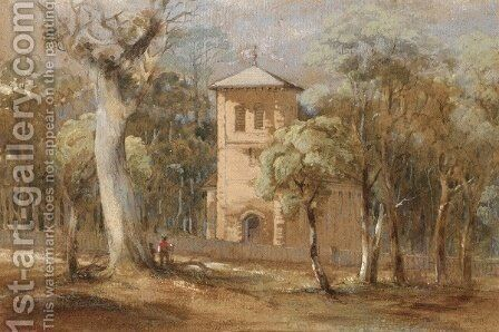 St. Thomas' Church, North Sydney by Conrad Martens - Reproduction Oil Painting