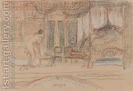 Bedroom Scene by Charles Conder - Reproduction Oil Painting