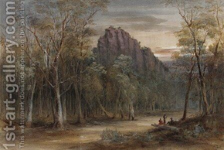 Road Scene, Approach to Crown Ridge by Conrad Martens - Reproduction Oil Painting