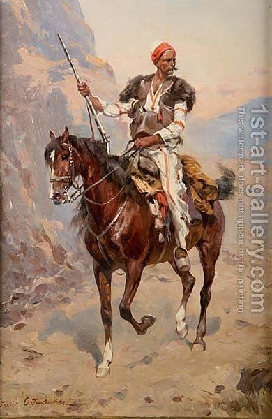 Horseman by Thaddeus von Ajdukiewicz - Reproduction Oil Painting