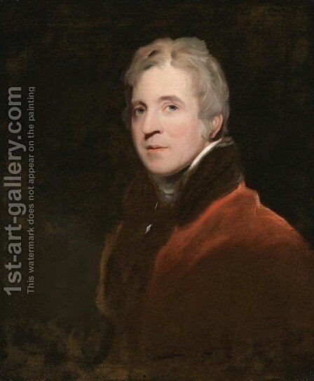 Portrait of Sir George Howland Beaumont, 7th Bt. (1753-1827) by Sir Thomas Lawrence - Reproduction Oil Painting
