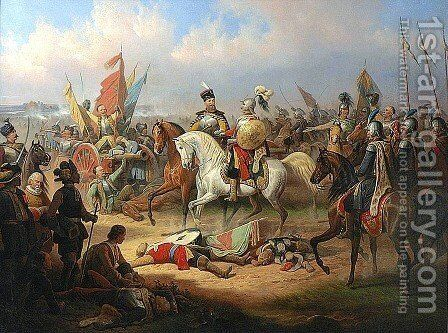 Battle of Kircholm by January Suchodolski - Reproduction Oil Painting
