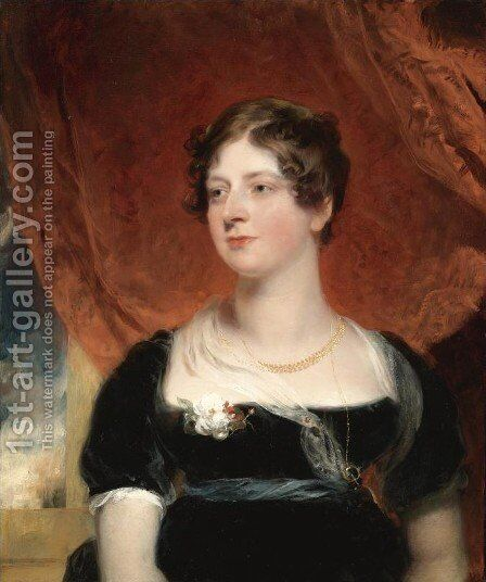 Portrait of Miss Glover of Bath by Sir Thomas Lawrence - Reproduction Oil Painting