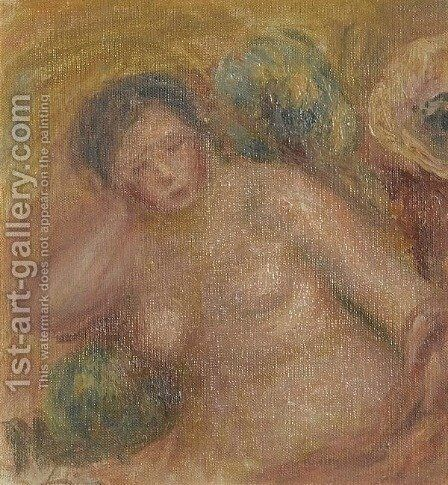 Femme Nue Assise by Pierre Auguste Renoir - Reproduction Oil Painting