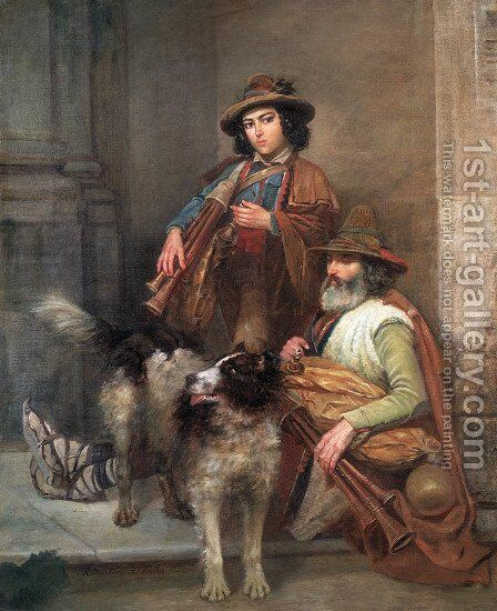 Travelling Italian Musicians by Aleksander Stankiewicz - Reproduction Oil Painting