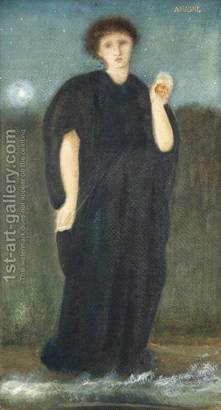 Ariadne by Sir Edward Coley Burne-Jones - Reproduction Oil Painting